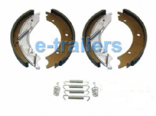 "TRAILER BRAKE SHOES 250 x 40 FITS KNOTT IFOR WILLIAMS BRIAN JAMES 10"" DRUM"
